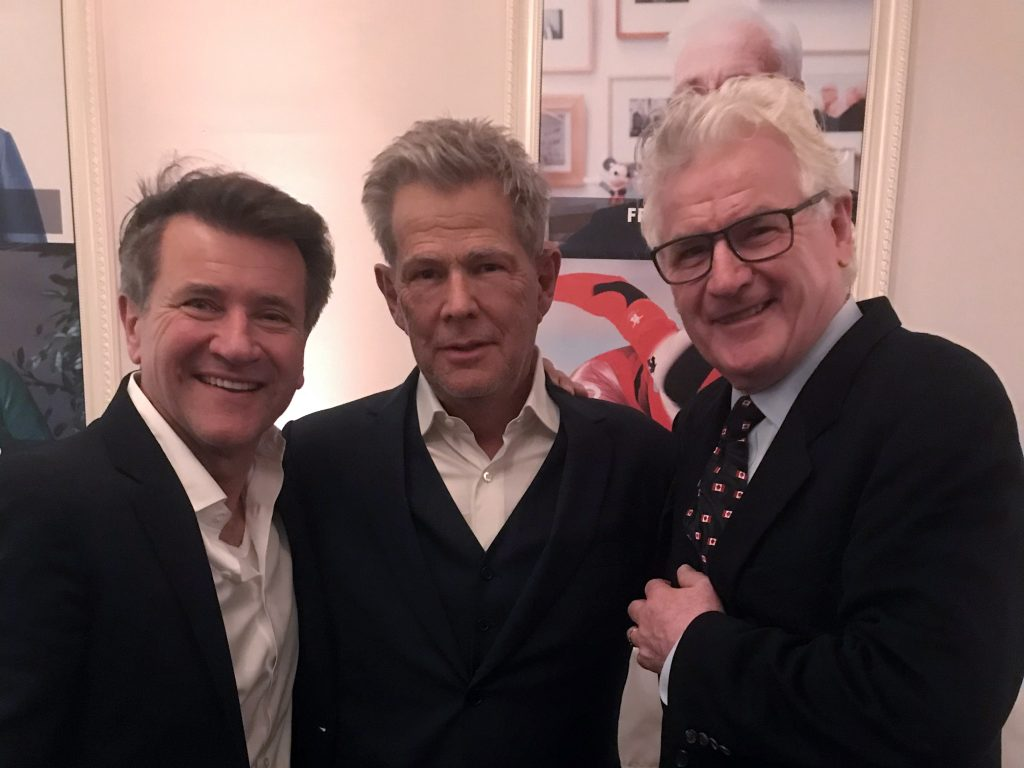 Robert Herjavec, David Foster and John